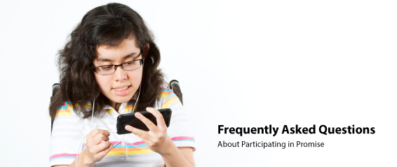 Image of girl in a wheelchair using a mobile phone with earbuds.