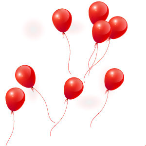 Image of a whole lot of red balloons