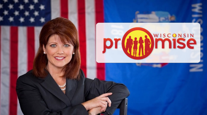 Image of Lieutenant Governor Kleefisch with Wisconsin Promise Logo